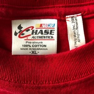 Chase Authentics Shirts - Vintage Kyle Bush #18 NASCAR Double Sided T-Shirt